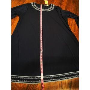Michael Kors Dresses - Michael Kors Plus Size Long-Sleeve Dress True Navy